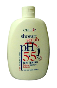 CELLIZ whitening Shower Scrub pH 5.5 Natural Moisture Balance
