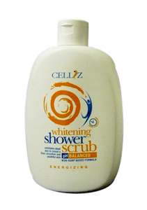 CELLIZ whitening Shower Scrub pH Natural Balanced