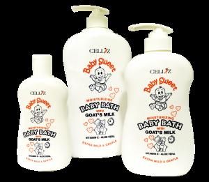 CELLIZ-Baby-Sweet-Baby-Bath-Goat's-Milk-White
